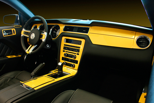 Carbon fiber dash kit for cars