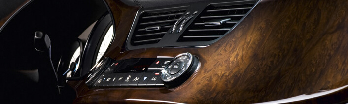 Synthetic and real wood trim dash kits