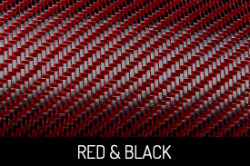 Red and Black Carbon Fiber