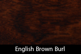 English Brown Burl