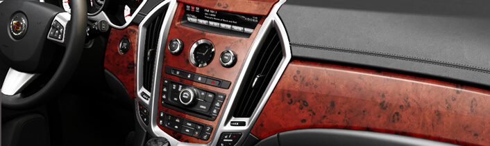 Wood grain dash kits
